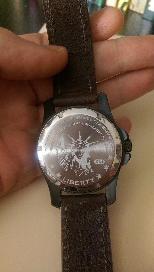 Back of the Minuteman DLC Liberty watch