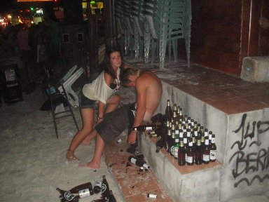 people passed out at the Thailand Full Moon Party