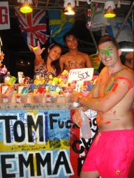 author at the Full Moon Party in Koh Phangan