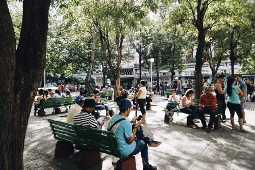 Wifi in public park in Cuba