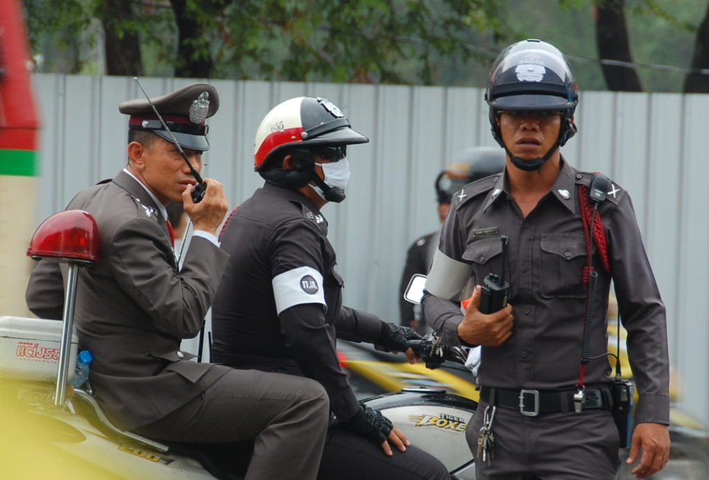 police officers in Thailand