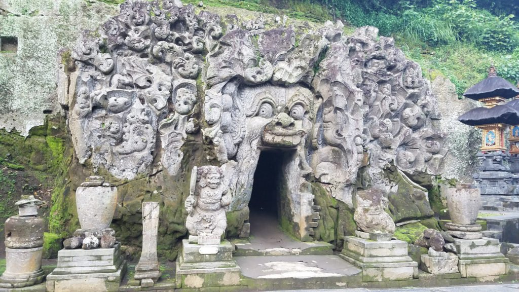 Elephant Cave on Nyepi Day of Silence in Bali